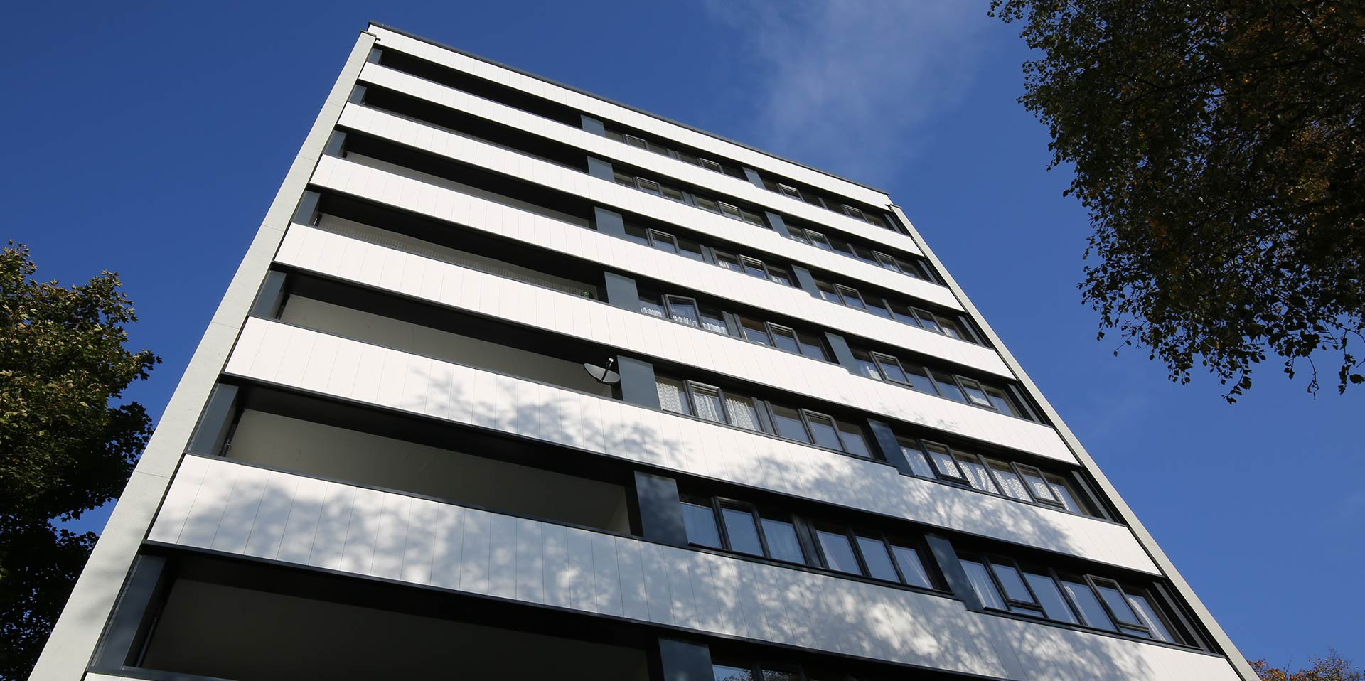 High rise building with anthracite grey PVCu windows
