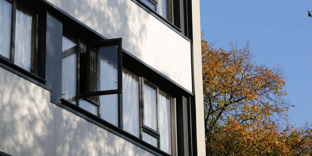 PVCu casement windows for schools