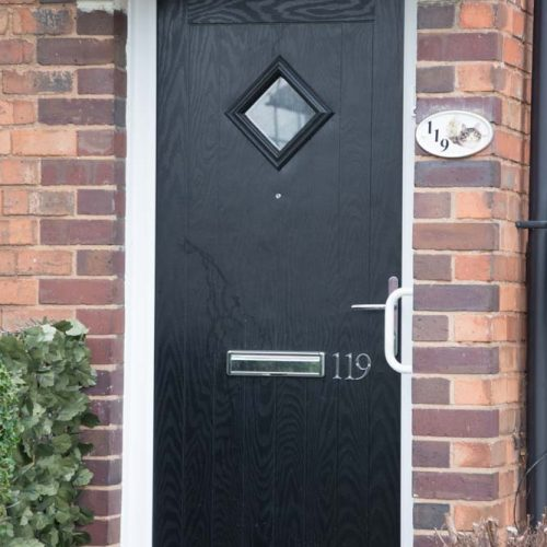 Black composite door for Birmingham City Council