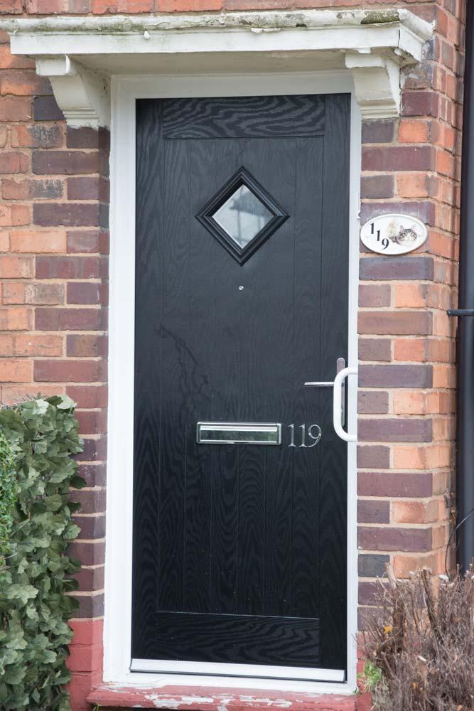 Black composite door for Birmingham City Council
