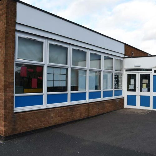 Chivenor Primary School with new windows and doors