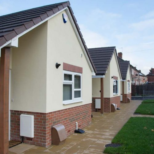 New build properties on Gladstone Street on which we supplied windows and doors
