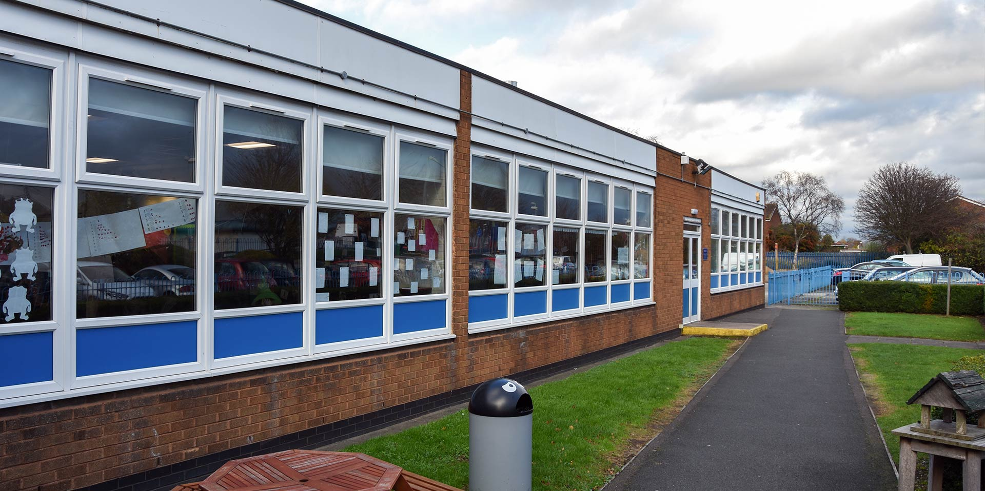 Primary school project with new windows, doors and fascia