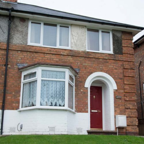White PVCu casement windows refurbishment for council project