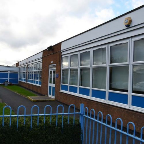 PVCu casement windows and doors supplied for Chivenor Primary School project
