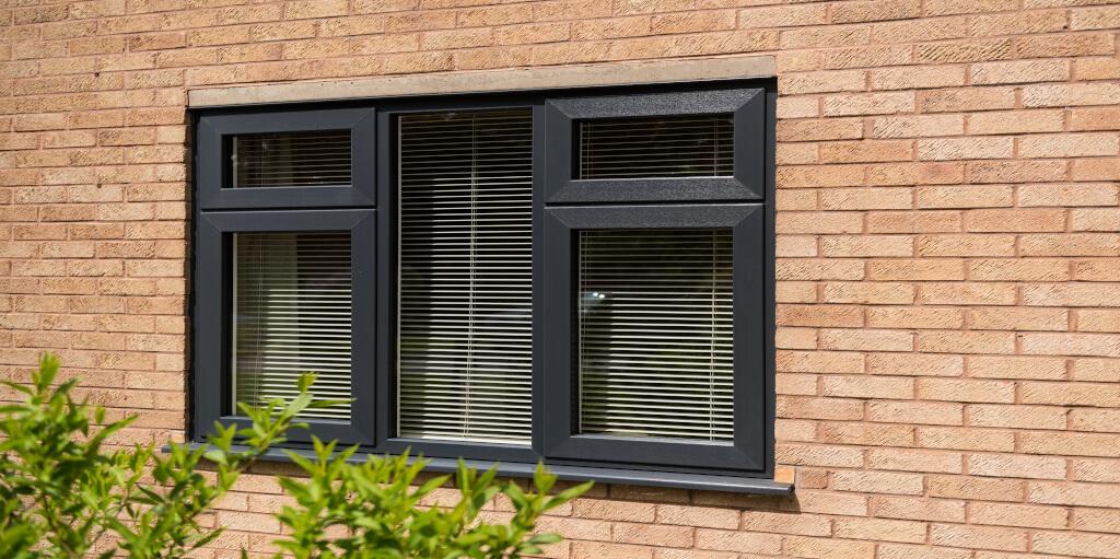 Coloured uPVC casement windows