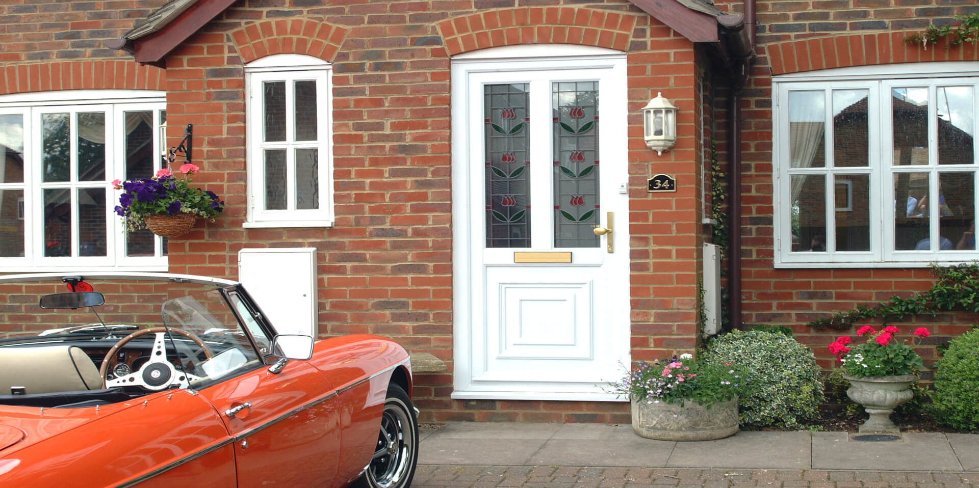 uPVC residential door white