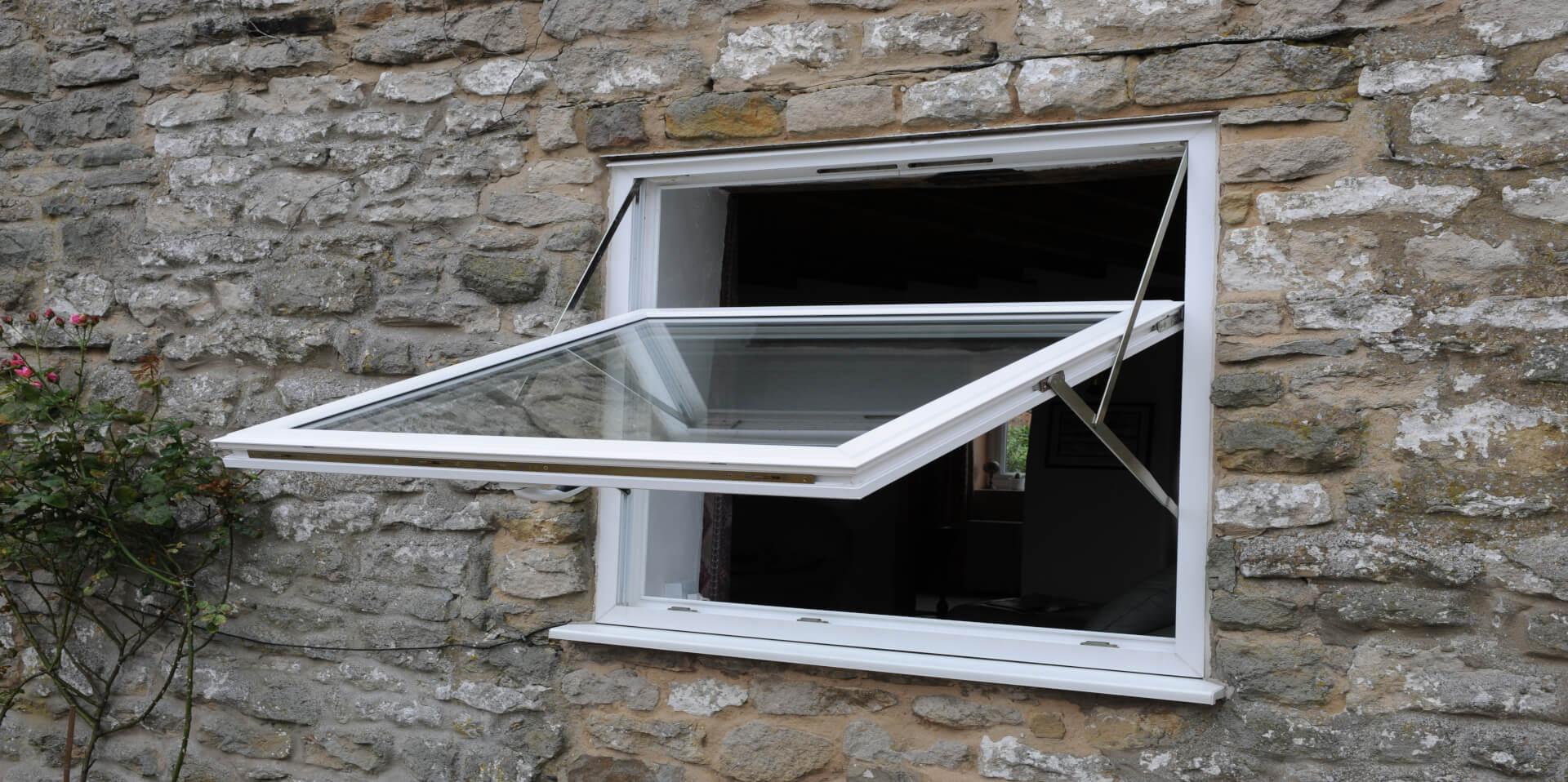 reversible white window