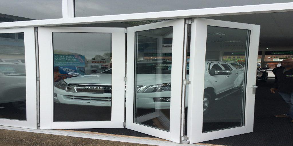 Kestrel white aluminium bifold doors