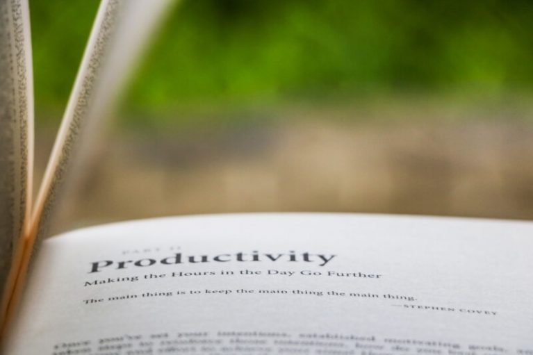Productivity in a book