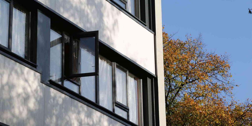 PVCu casement windows for schools