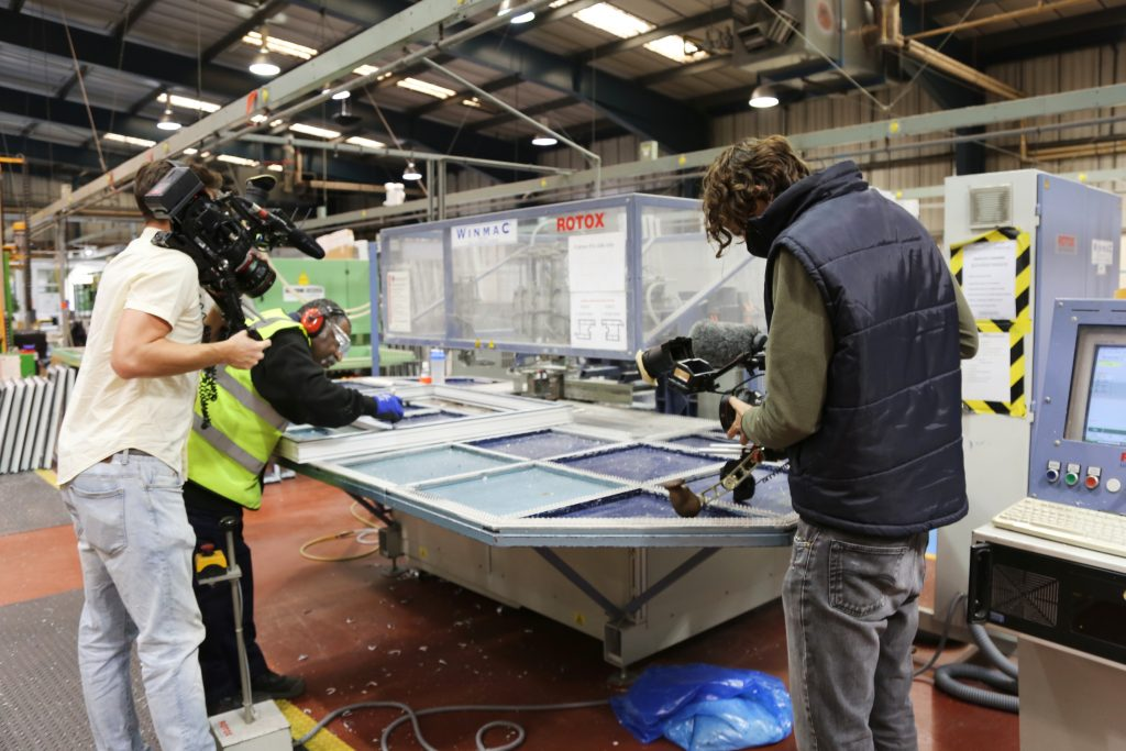 - ITV4 Made In Britain Filming - Shelforce - Howard Trotter, Shelforce's Business Manager