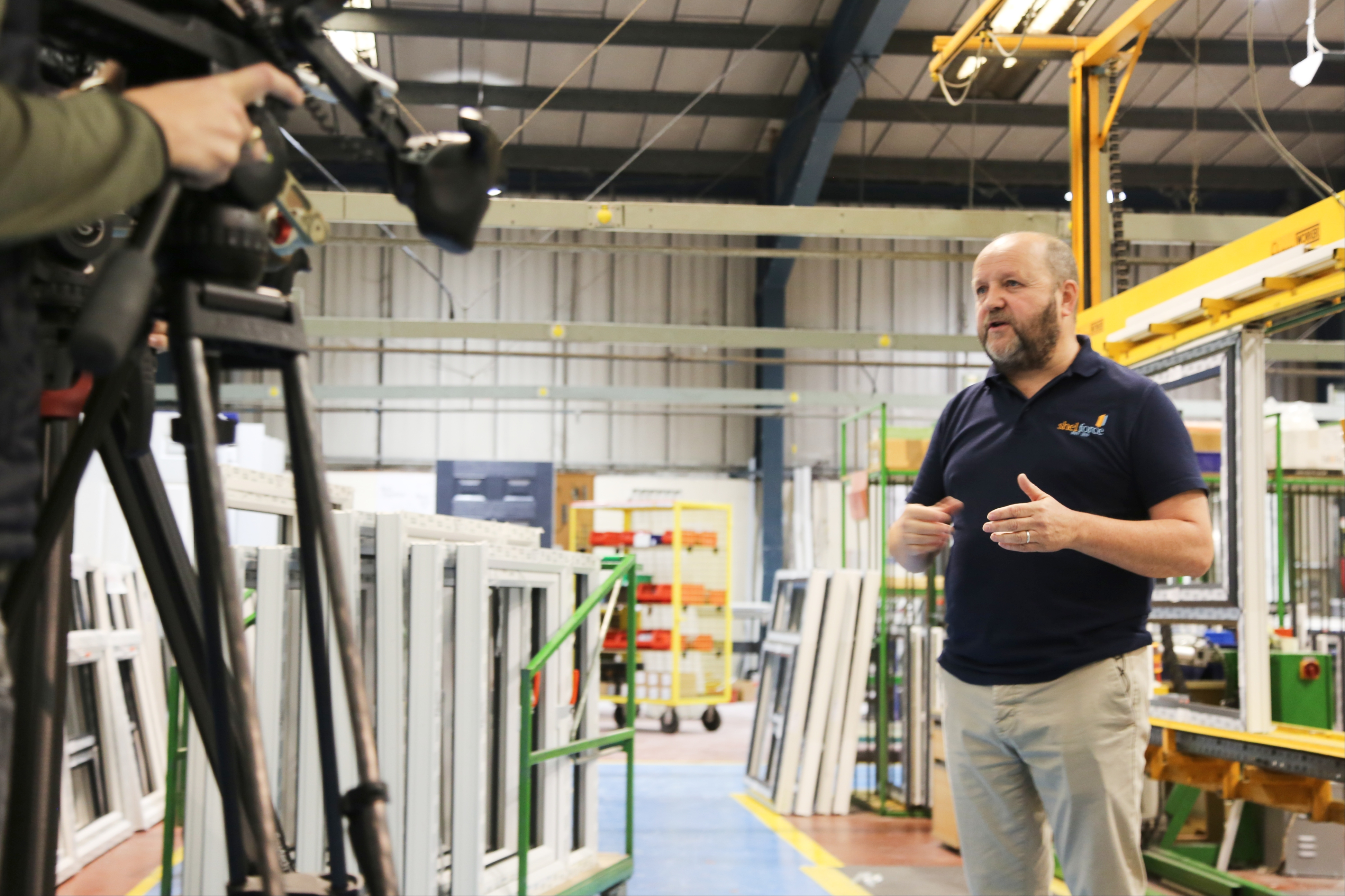 ITV4 Made In Britain Filming - Shelforce - Howard Trotter, Shelforce's Business Manager